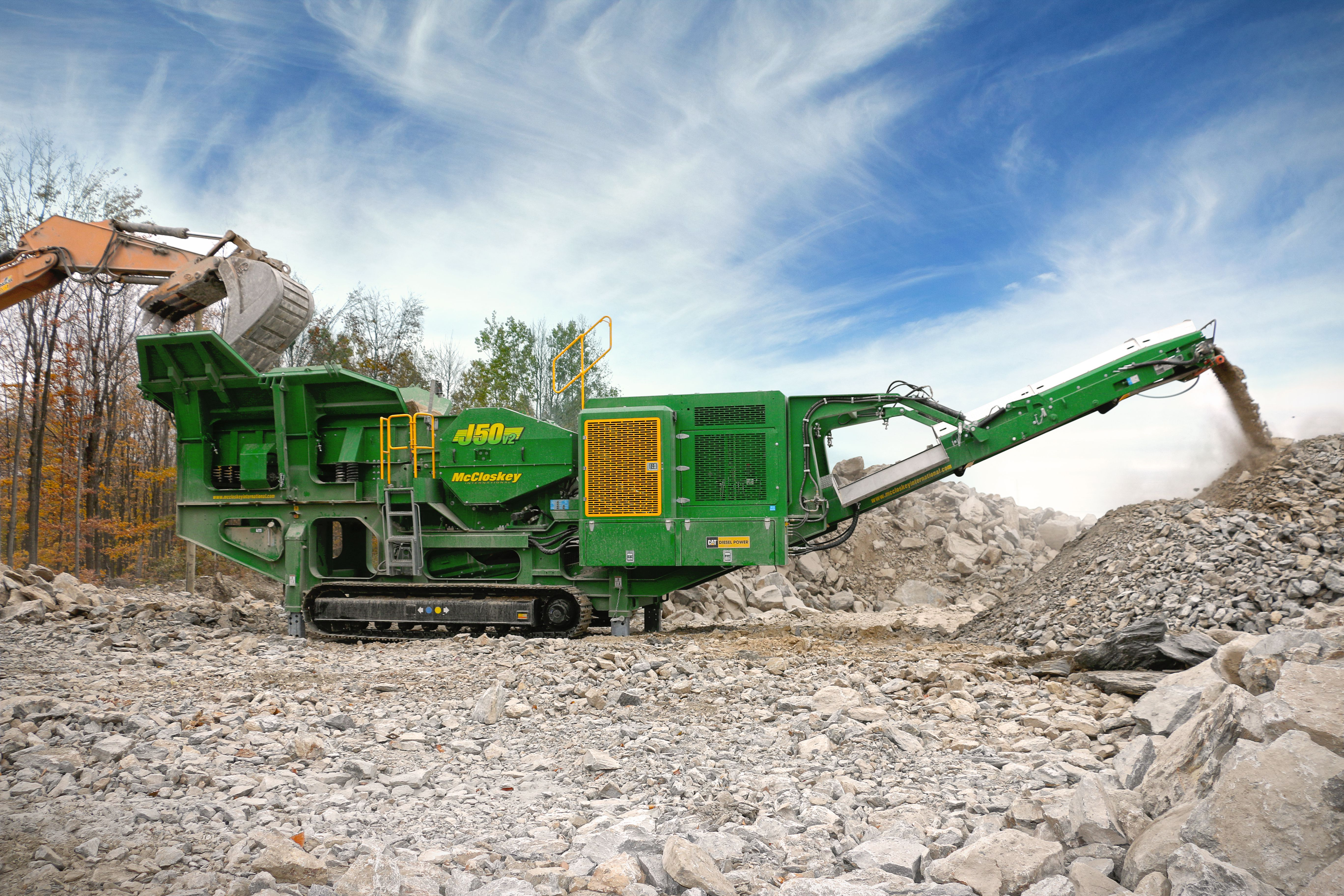 McCloskey J50 Jaw Crusher crushing material