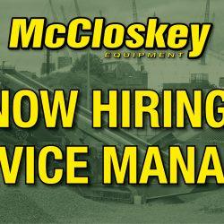 Now Hiring - Service Manager Job